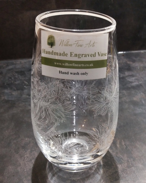Medium Daisy Engraved Vase