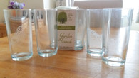 Set of 4 Garden Friends Engraved Glasses