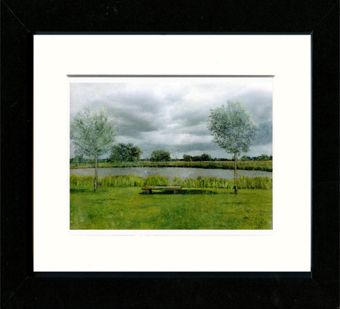 Black Framed Print 10x8inch