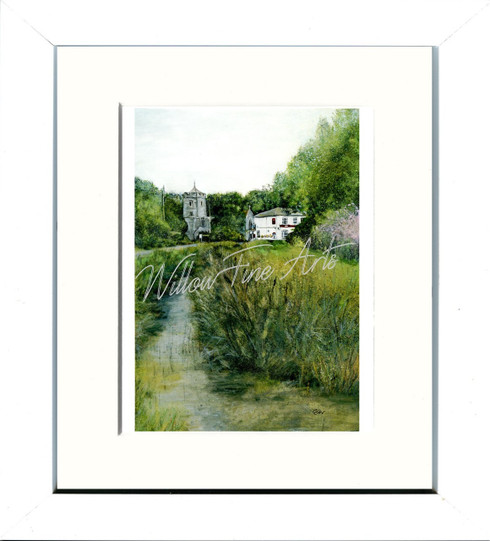 White Framed Print 8x10inch