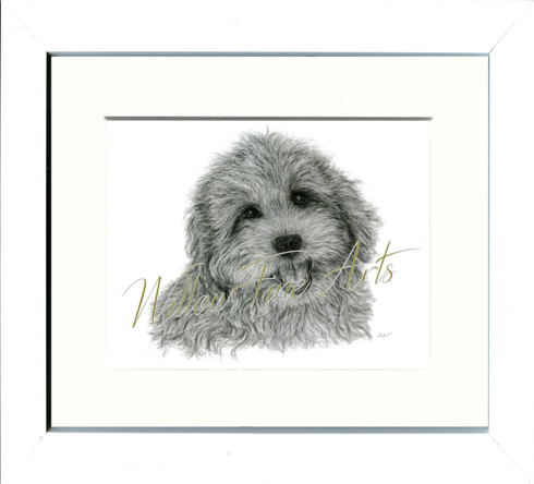 White Framed Print (shown in size 8x10 inch)
