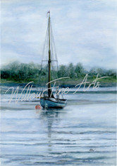 Calm Waters - Canvas Print (18x12 inches)