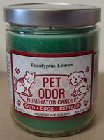Eucalyptus Leaves Pet Odor Eliminator Candle