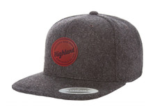Wooly Leather Patch Snapback
