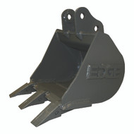 """12"""" (1.4 ft³, .039 m³) Heavy Duty Bucket JD27D, JD27ZTS Excavator with OEM Quick Attach"""