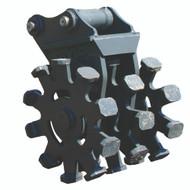 "16"" Compaction Wheel with Pins for Yanmar ViO40, ViO27, ViO35 Excavator with Quick Attach"