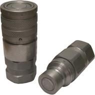High Flow Male and Female Flat Face Coupler Kit, #12 Female O-Ring Boss (i.e. Gehl V420, RT175, RT210, RT250, VT320)