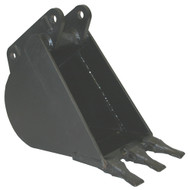 "16"" (400 mm) In-Cab Backhoe Bucket with 3 pin-on teeth"