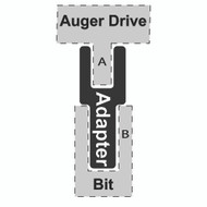 "Adapter - 2"" Round to 2-9/16"" Round Bit"