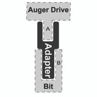 "Adapter - 2-9/16"" Deep Socket Round to 2"" Hex Bit"