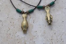 Manatee Necklace - Antique Brass
