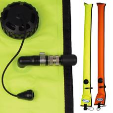 Diver's Alert Marker, 3.3' oral inflate only