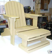 ADIRONDACK CHAIR W/ FOOT REST Paper Patterns BUILD IT LIKE EXPERT Easy DIY Plans