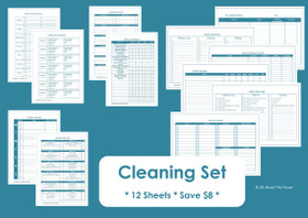 BLACK - Cleaning Set - Simple Planner Series - Instant Download