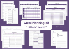 BLUE - Meal Planning - Simple Planner Series - Instant Download