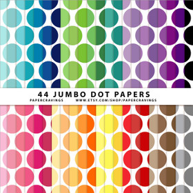 "Jumbo Dots 3 Digital Paper Pack 12"" x 12"" (44 colors) INSTANT DOWNLOAD"