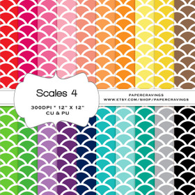 """Scales 4 Digital Paper Pack 12"""" x 12"""" (20 colors) - INSTANT DOWNLOAD"""