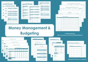 BLACK - Money Management Printables - INSTANT DOWNLOAD