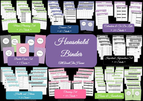 DARK BLUE Household Binder - Instant Download