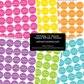 FREE printable happy birthday gift stickers