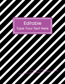 "EDITABLE Binder Cover - Letter Size (8.5 x 11"") - Style 4 - black (118), purple (51)"