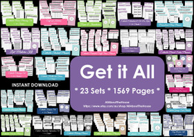 GET IT ALL - EDITABLE - Multicoloured Planners - Instant Download
