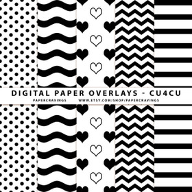 """Digital Paper Overlays - 5 Patterns - 12"""" x 12"""" and 8.5 x 11"""" (Set 8) INSTANT DOWNLOAD"""