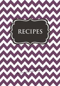 Purple Chevron & Dark Grey Recipe Binder - EDITABLE - 54 Sheets - INSTANT DOWNLOAD