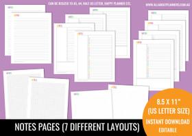 Notes Kit Printables - Rainbow