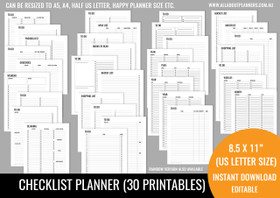 Checklists Kit Printables - Black
