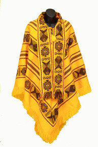 Spring Poncho Yellow