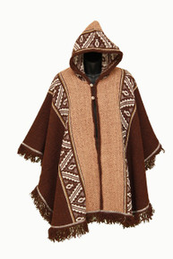 Poncho Women Brown
