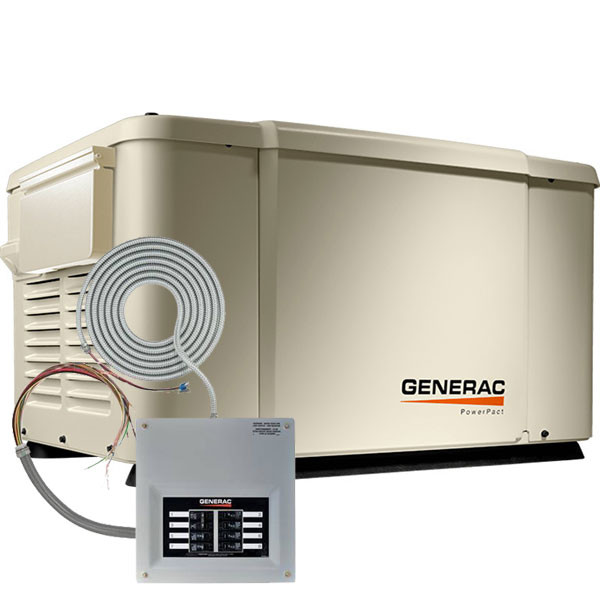Home Standby Generators Natural Gas Generac PowerPact 7kW Home Standby
