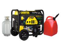 CHAMPION 100165 7500W / 9375W DUAL FUEL Gasoline / LPG Portable Generator Electric Start w/ Auto Idle Control