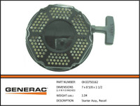 Generac Recoil Starter 0H33750162 (Round Style)