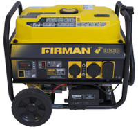 Firman P03608 Portable Gas  4550/3650 Watt Electric Start w/ Wheel Kit