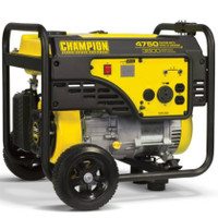 CHAMPION 100103 3800/4750 Watts - Portable Generator w/ portability kit CARB Compliant