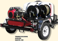 Pressure-Pro TRHDCV5535HG 3500 PSI @ 5.5 GPM, Pressure Washer Trailer HONDA GX630 ENGINE Belt Drive GP Pump