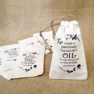 Solomon Quote Cotton Drawstring Bag For Essential Oil Gifts - Set of 6