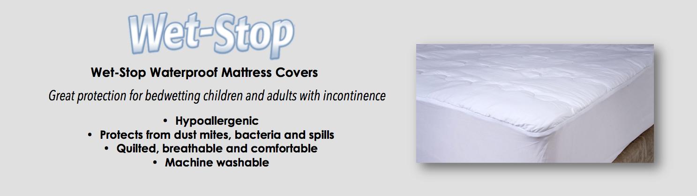 Wet-Stop waterproof mattress covers