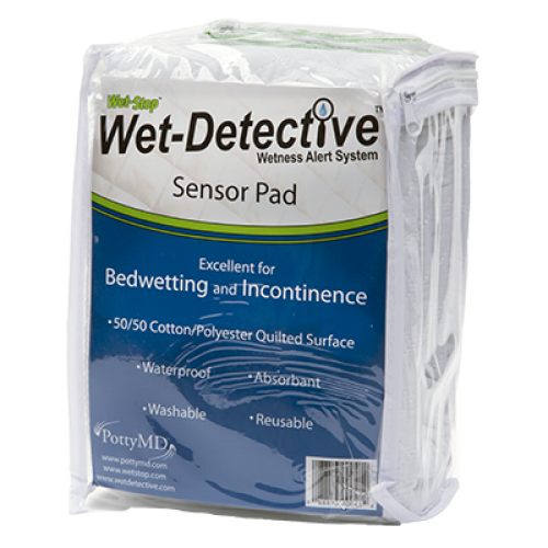Wet-Detective sensor pad for bedwetting.