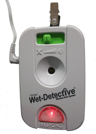 Wet-Detective alarm unit lit up.