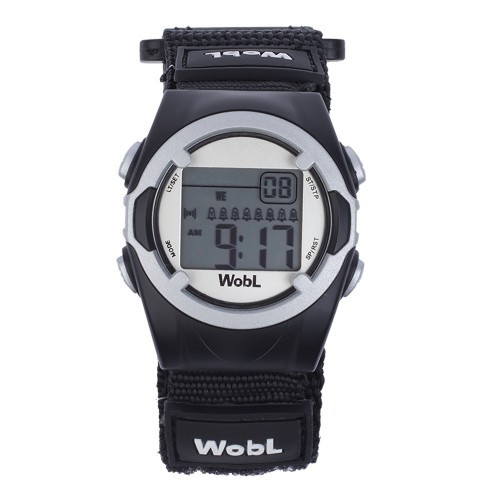 Wobl vibrating reminder watch by Pottymd.com in black.