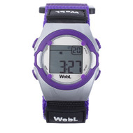 Wobl vibrating reminder watch by Pottymd.com in purple.