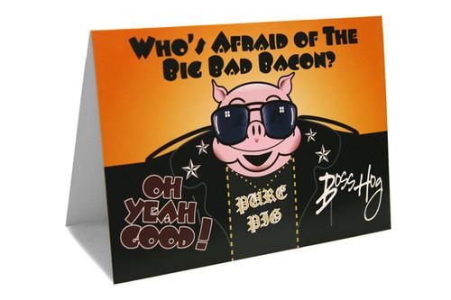 Big Bad Bacon Greeting Card