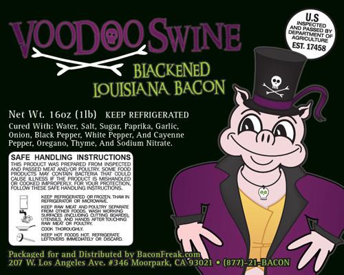 VooDoo Swine Blackened Louisiana Bacon