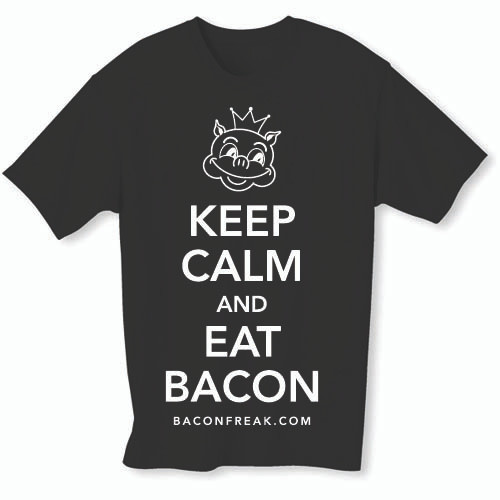 Keep Calm and Eat Bacon Mens T-Shirt