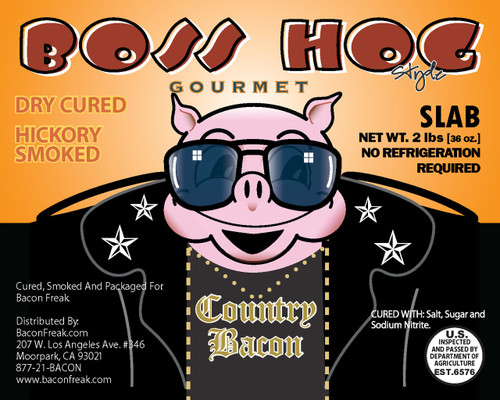 Boss Hog Hickory Smoked 2 Pounds Slab Bacon