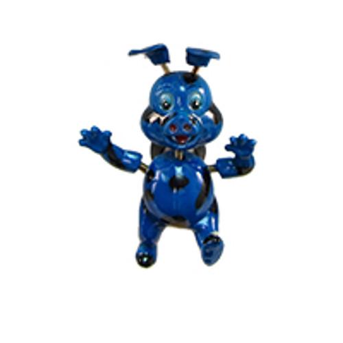 Blue Spotted Piggy Bobble Magnet