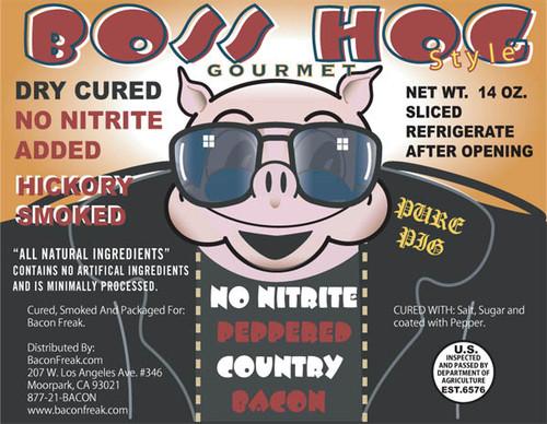 Boss Hog No Nitrite Pepper Country Bacon